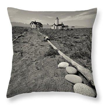 New Dungeness Lighthouse Throw Pillow by Dan Mihai