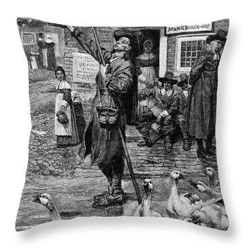 New England: Quaker, 1660 Throw Pillow by Granger