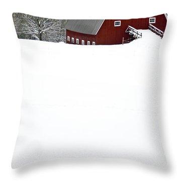 New England Winter Throw Pillow by Edward Fielding
