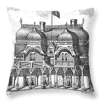 New Jersey: House, C1876 Throw Pillow by Granger