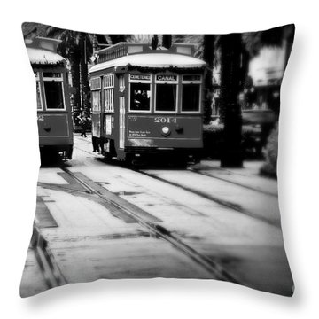 New Orleans Classic Streetcars. Throw Pillow by Perry Webster