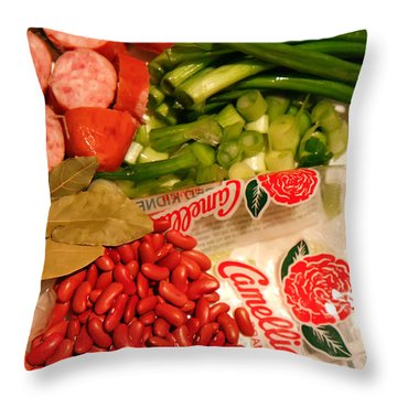 New Orleans' Red Beans And Rice Throw Pillow