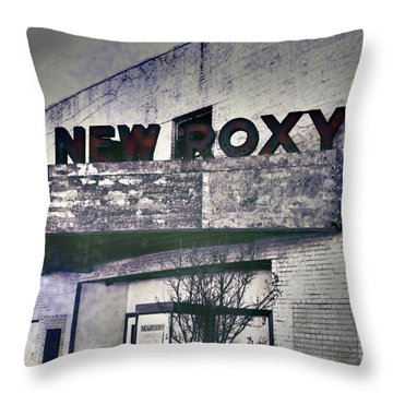 Throw Pillow featuring the photograph New Roxy Clarksdale Ms by Lizi Beard-Ward