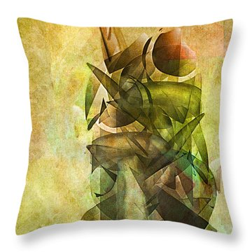 Throw Pillow featuring the digital art New Things To See by Jean Moore