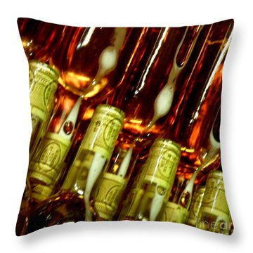 New Wine Throw Pillow by Lainie Wrightson
