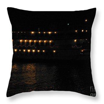Nola Night Cruise Throw Pillow