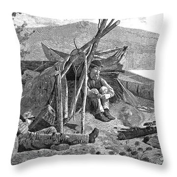 New York: Camping, 1874 Throw Pillow by Granger