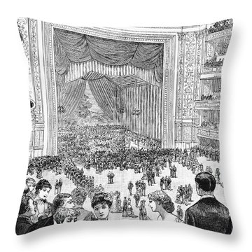 New York Charity Ball, 1884 Throw Pillow by Granger