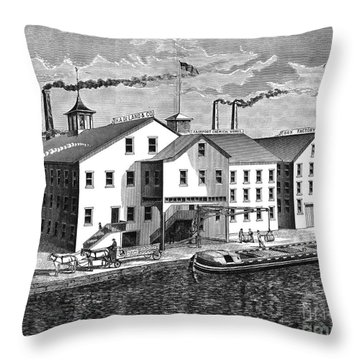 New York: Chemical Works Throw Pillow by Granger