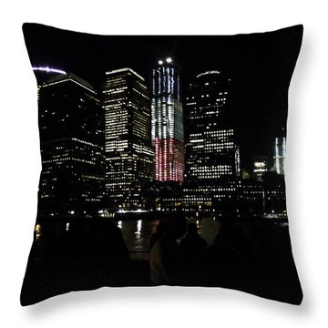 New York City Freedom Tower Throw Pillow by Paul Plaine