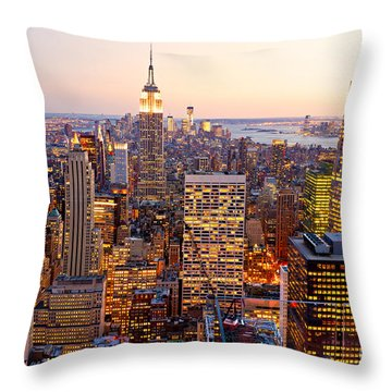Throw Pillow featuring the photograph New York City by Luciano Mortula
