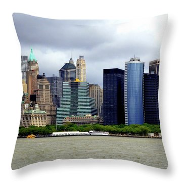 Throw Pillow featuring the photograph New York City by Pravine Chester