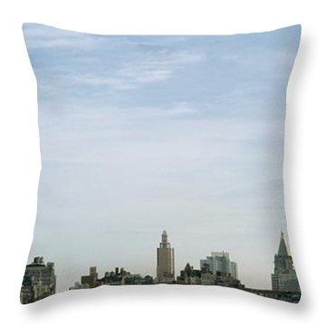 New York City Skyline Throw Pillow by Axiom Photographic