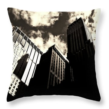 New York City Skyscrapers Throw Pillow by Vivienne Gucwa