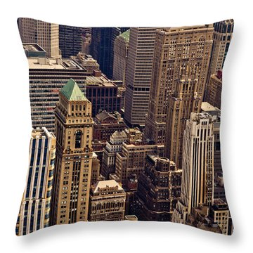 New York City Urban Landscape Throw Pillow by Vivienne Gucwa