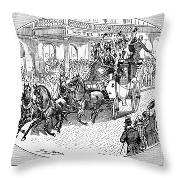 New York: Coaching, 1876 Throw Pillow by Granger