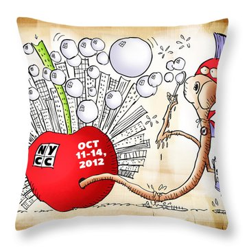 New York Comic Con 2012 Throw Pillow