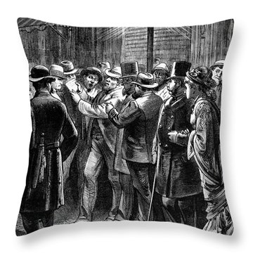 New York: Election, 1876 Throw Pillow by Granger