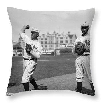 New York Highlanders, 1912 Throw Pillow by Granger
