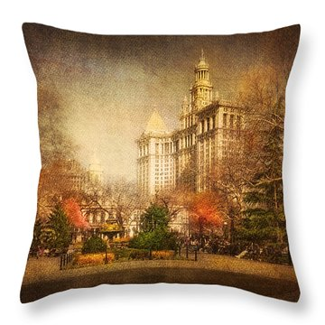 New York In April Throw Pillow by Svetlana Sewell