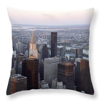 New York Throw Pillow by Milena Boeva