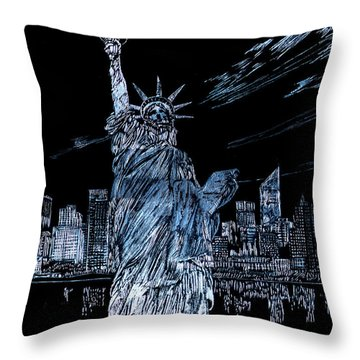 New York New York Throw Pillow by Saad Hasnain