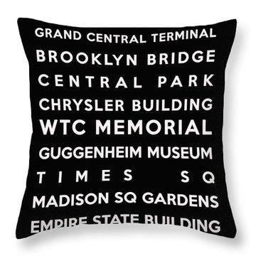 New York Throw Pillow by Georgia Fowler