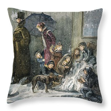 New York: Poverty, 1876 Throw Pillow by Granger