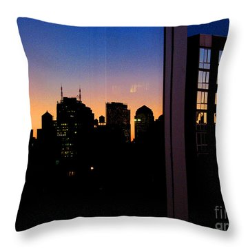 New York Reflections Throw Pillow