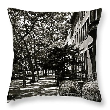 Throw Pillow featuring the photograph New York Sidewalk by Eric Tressler