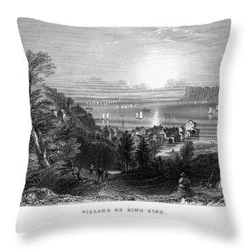 New York: Sing Sing Throw Pillow by Granger