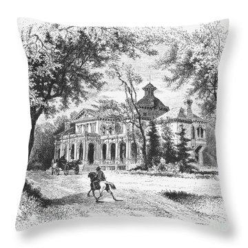 New York State: House Throw Pillow by Granger