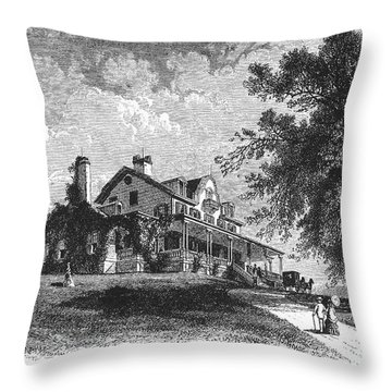 New York State: Mansion Throw Pillow by Granger