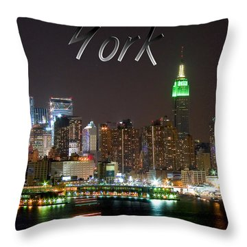 New York Throw Pillow by Syed Aqueel