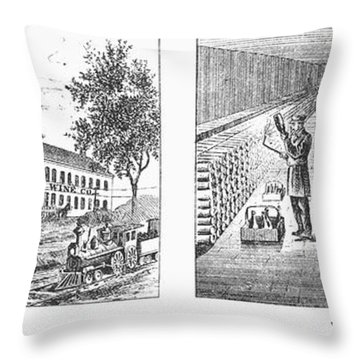 New York: Winery, 1878 Throw Pillow by Granger