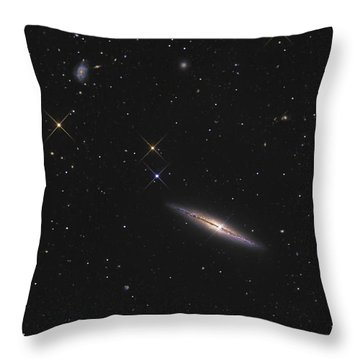Ngc 4013 Is An Edge-on Unbarred Spiral Throw Pillow