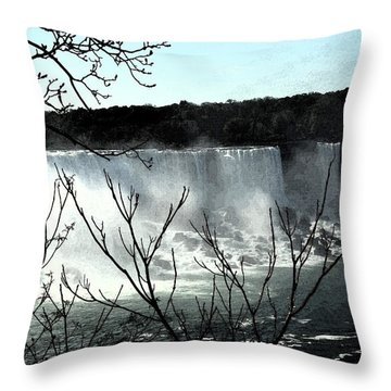 Throw Pillow featuring the photograph Niagar Falls by Pravine Chester