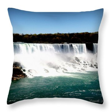 Throw Pillow featuring the photograph Niagara Falls The Canadian Side by Danielle  Parent