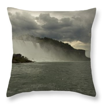 Throw Pillow featuring the photograph Niagara Power by Darleen Stry