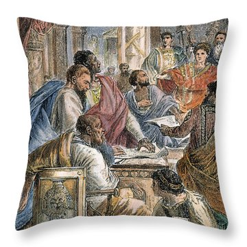 Nicaea Council, 325 A.d Throw Pillow by Granger