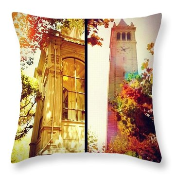Nice Digs Near The Campanile - Uc Berkeley Ca Throw Pillow by Anna Porter