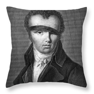 Nicolas-jacques Cont�, French Inventor Throw Pillow by Photo Researchers