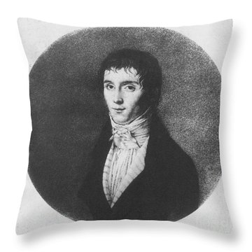 Nic�phore Ni�pce, French Inventor Throw Pillow by Photo Researchers
