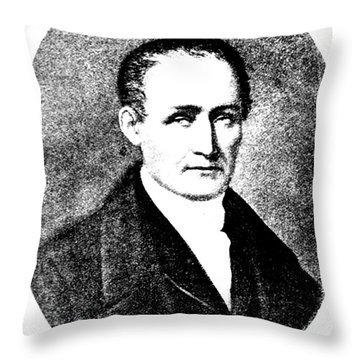 Nic�phore Ni�pce, French Inventor Throw Pillow by Science Source