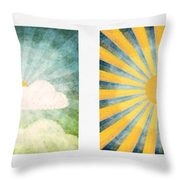 Night And Day  Throw Pillow by Setsiri Silapasuwanchai