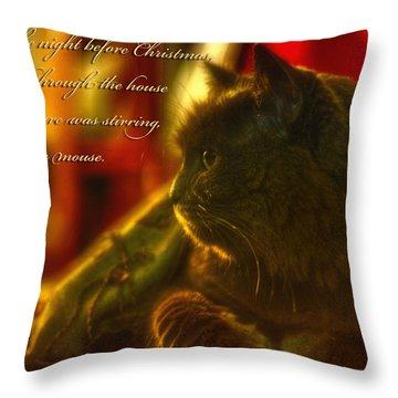 Night Before Christmas... Throw Pillow by Joann Vitali
