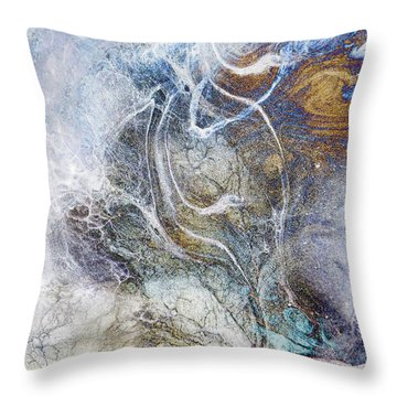 Night Blizzard Throw Pillow