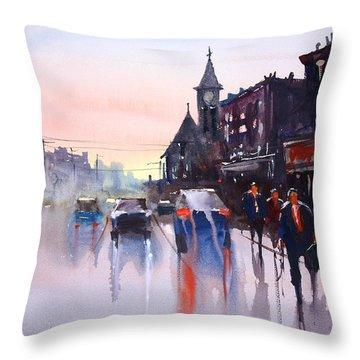 Night Fall - Berlin Throw Pillow by Ryan Radke