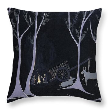 Night Halt Throw Pillow
