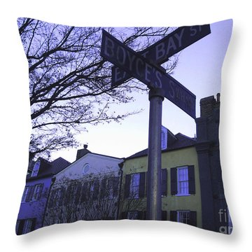 Throw Pillow featuring the photograph Night In Savannah by Andrea Anderegg